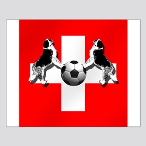 Swiss Football Flag Small Poster