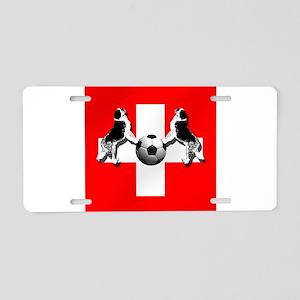 Swiss Football Flag Aluminum License Plate