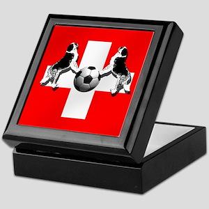 Swiss Football Flag Keepsake Box