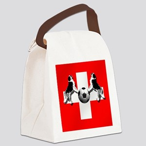 Swiss Football Flag Canvas Lunch Bag