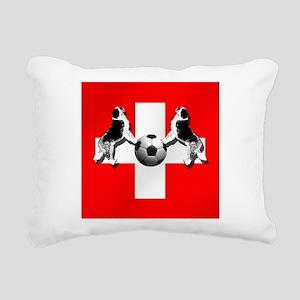 Swiss Football Flag Rectangular Canvas Pillow