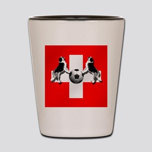 Swiss Football Flag Shot Glass