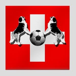 Swiss Football Flag Tile Coaster