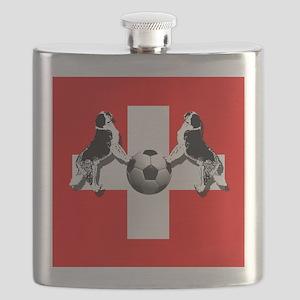 Swiss Football Flag Flask