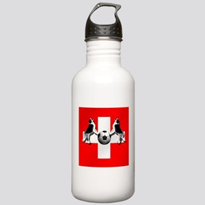 Swiss Football Flag Stainless Water Bottle 1.0L