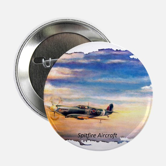 "SPITFIRE AIRCRAFT 2.25"" Button"