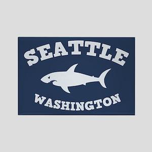 Sharking Seattle Rectangle Magnet