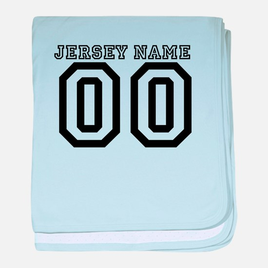 JERSEY NAME baby blanket