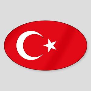 Flag of Turkey Sticker (Oval)