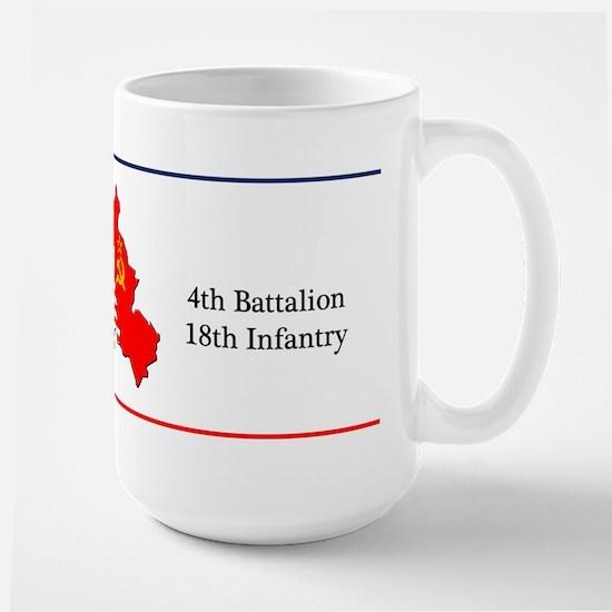4th Battalion 18th Infantry Large Coffee Mug