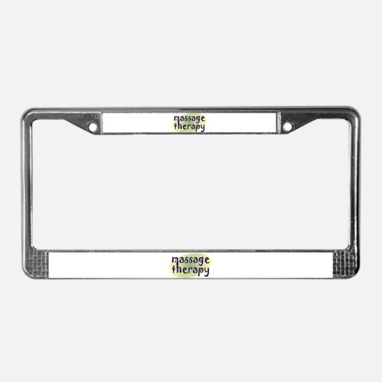 Massage Therapy License Plate Frame