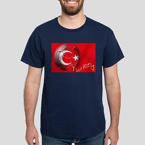 Turkey Football Flag Dark T-Shirt