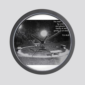 Ghosts In the Graveyard Wall Clock