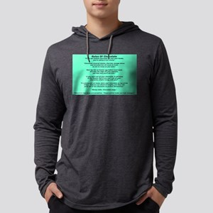 Rules Of Chocolate Mens Hooded Shirt