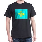 Cute Smiling Bee Turquoise Blue Designer T-Shirt