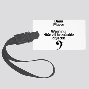 Bass player-hide all breakable objects Luggage Tag