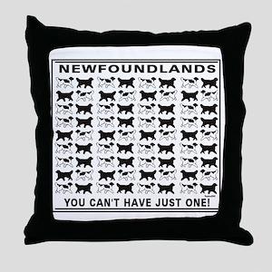 black and white newfoundland Throw Pillow