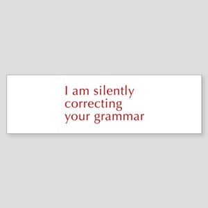 silently-correcting-opt-red Bumper Sticker