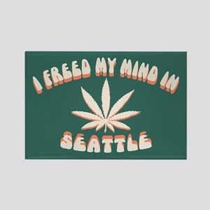 Seattle Freed Rectangle Magnet
