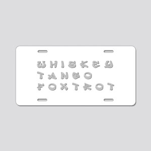 WTF-inner Aluminum License Plate