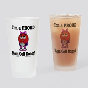 """Proud Stem Cell Donor"" Drinking Glass"