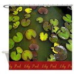 Lilly Pad Art Shower Curtain