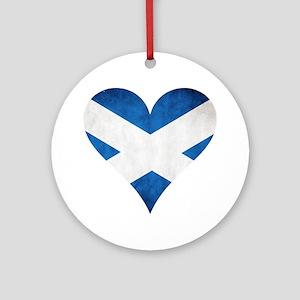 Scotland heart Ornament (Round)