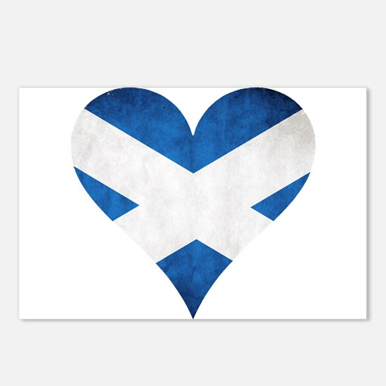 Scotland heart Postcards (Package of 8)