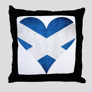 Scotland heart Throw Pillow
