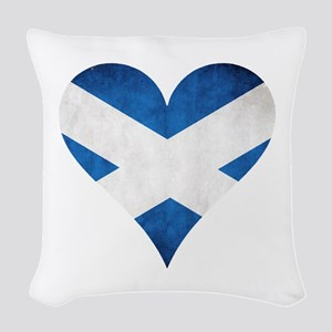 Scotland heart Woven Throw Pillow