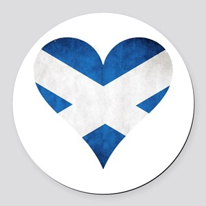 Scotland heart Round Car Magnet