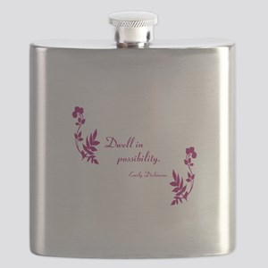 Dwell in Possibility magenta Flask