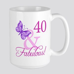 Fabulous 40th Birthday Large Mug