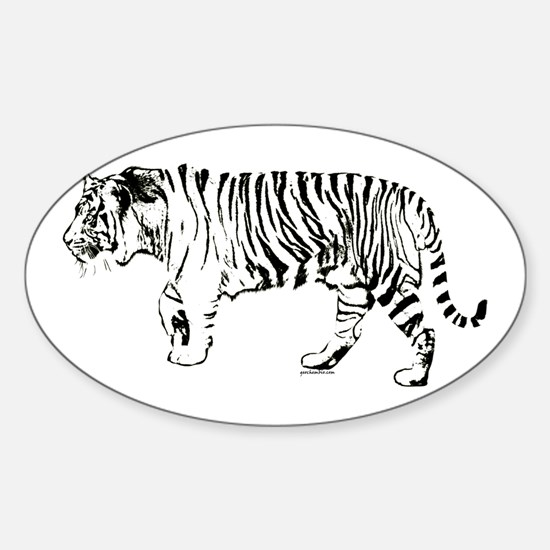 Tiger silhouette Decal