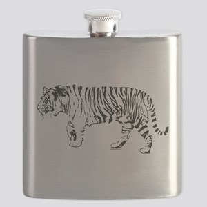 Tiger silhouette Flask