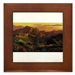 Arizona Desert Framed Tile