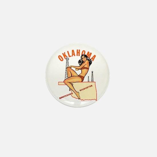 Oklahoma Pinup Mini Button