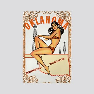 Vintage Oklahoma Pinup Rectangle Magnet