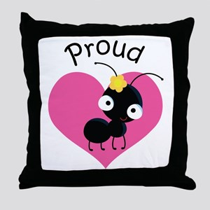 Proud Aunt Ant Throw Pillow