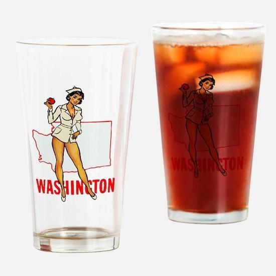 Washington Pinup Drinking Glass