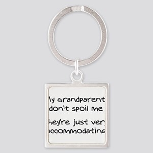 Accommodating Grandparents Square Keychain