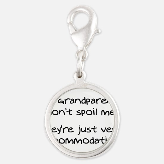 Accommodating Grandparents Silver Round Charm