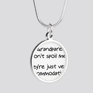 Accommodating Grandparents Silver Round Necklace