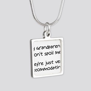 Accommodating Grandparents Silver Square Necklace