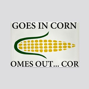 Goes in corn Rectangle Magnet