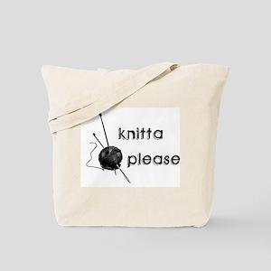 Knitta Please Tote Bag
