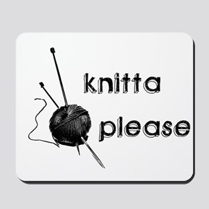 Knitta Please Mousepad