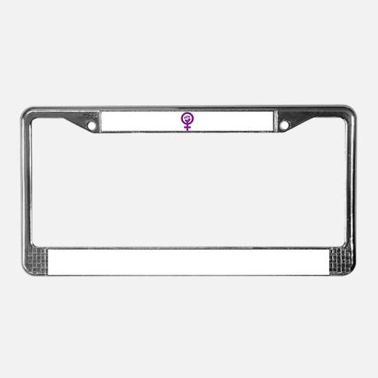 Femifist License Plate Frame