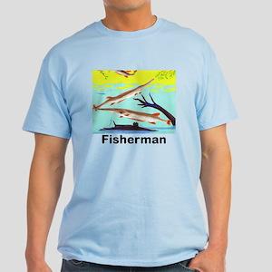 Fisherman Jumping Fish Light T-Shirt