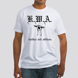 K.W.A knittaz wit attitude Fitted T-Shirt